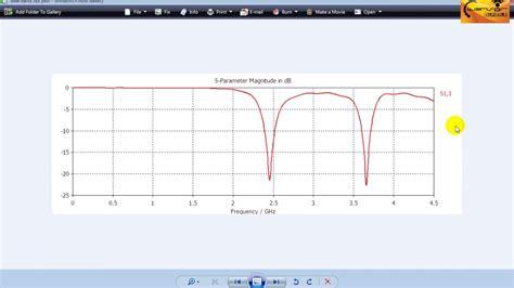 cst mws tutorial  analysis  return loss plot