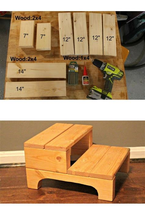 simple step stool woodworking projects diy