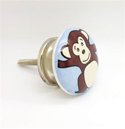 Monkey Knobs by Monkey Ceramic Door Knob Cupboard Handle By G