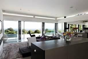 glass wall living room interior design ideas