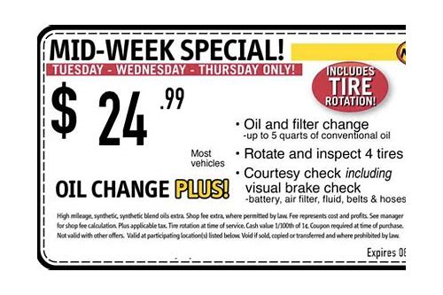 oil change coupons 91602