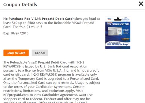 Kroger Visa Gift Card - prepaid cards around the world in eighty dollars