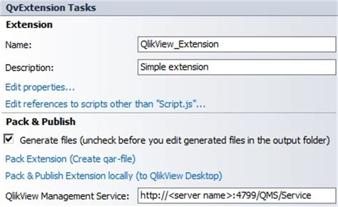 deploying an extension object from visual studio
