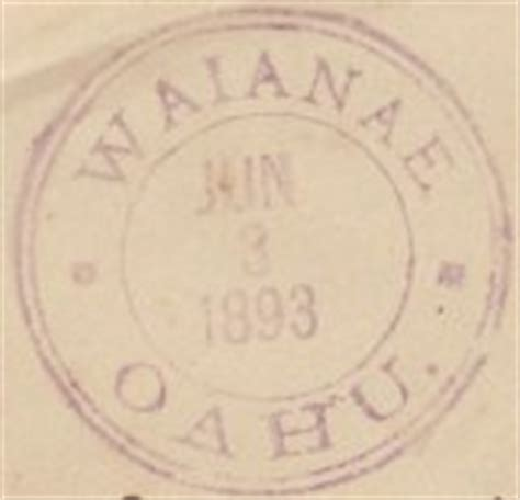 Waianae Post Office by Post Office In Paradise Oahu Postmarks