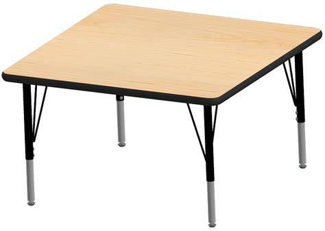 particle board table top laminate top adjustable height square activity table with