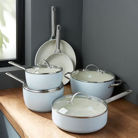 greenpan padova ceramic nonstick  piece cookware set