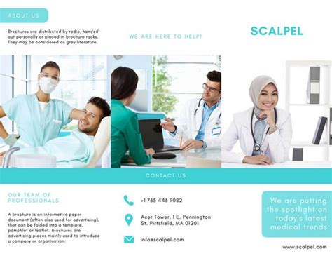 Aqua And White Medical Trifold Brochure Templates By Canva Assistant Brochure Templates