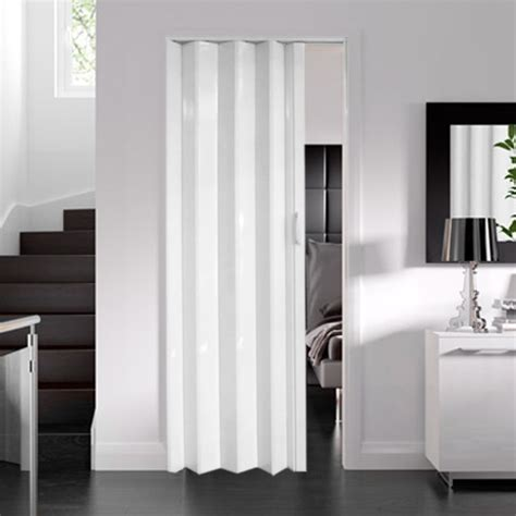Concertina Interior Doors Dynasty Pvc Concertina Folding Accordion Door White Ultra Thin 6mm