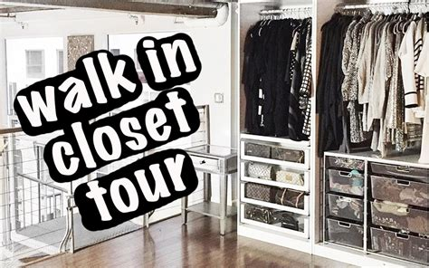 Walk In Closet Tour by Walk In Closet Tour Organization Storage Ideas