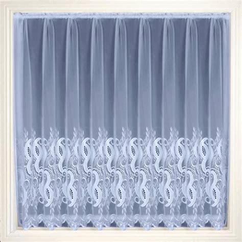 Embroidered Voile Curtains Uk or white embroidered voile net curtain 2 curtains