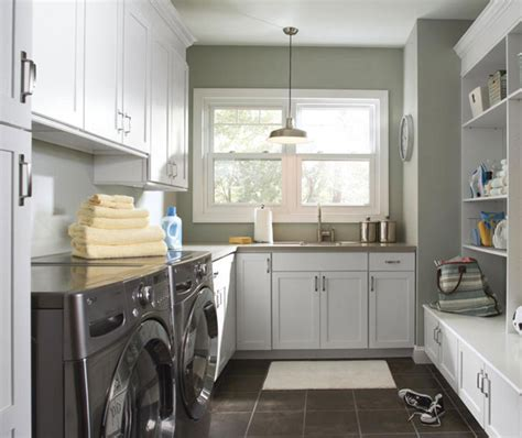 Laundry Room Cabinets In Painted White Maple Masterbrand Where To Buy Laundry Room Cabinets