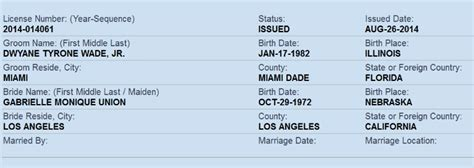 Dade County Records Marriage Exclusive Dwyane Wade I M Officially Licensed To Gabrielle Union Gossip