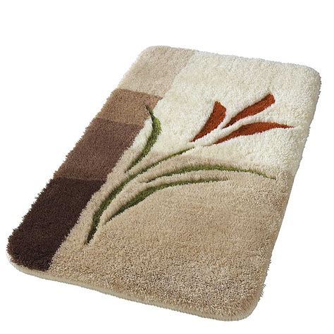 flower embossed bathroom mats by witt witt international