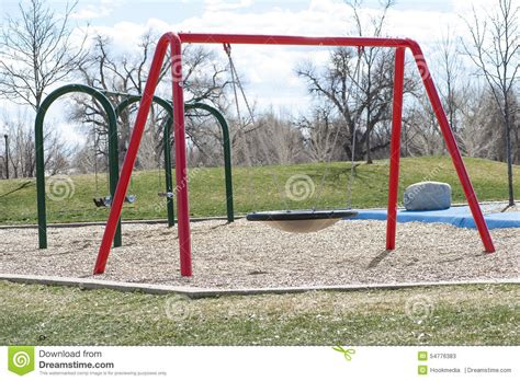 red swing set swing sets stock photo image 54776383