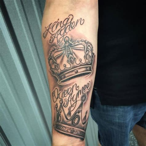 queen tattoo on forearm 70 best crown tattoo design ideas