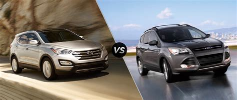 compare ford escape to hyundai santa fe ford escape vs hyundai santa fe sport