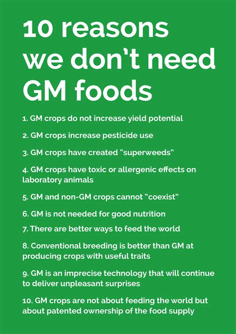 8 Reasons We Need by What Are The Cons Of Genetically Modified Foods Foodfash Co