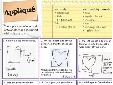 design criteria ks2 applique helpsheet by miss parsons teaching resources tes