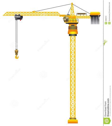 clipart edilizia vettore della gru a torre illustrazione vettoriale