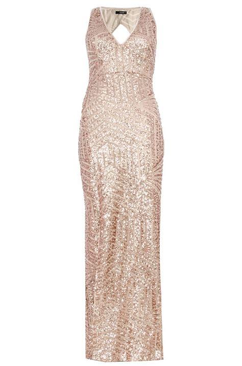 Kimo Maxi By Qiz Boutique gold sequin dress quiz gold sequin zig zag maxi