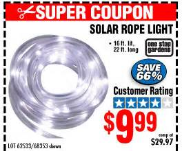 harbor freight solar rope light slashed prices