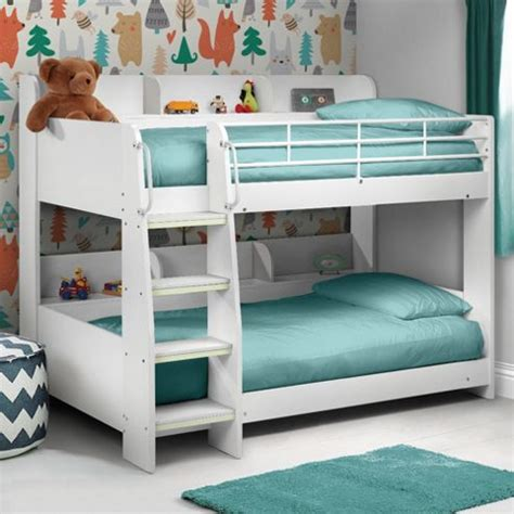 Metal Bunk Beds With Storage Buy Happy Beds Domino White Wooden And Metal Storage Bunk Bed Frame 3ft Single From Our