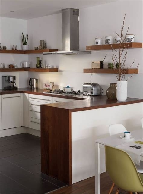 natural wood floating shelves kitchen ideas trends4us com