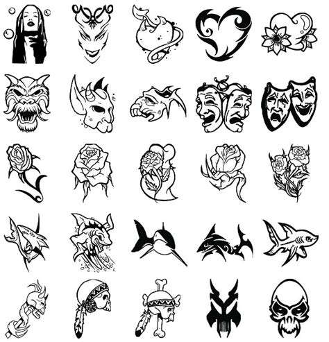 types of tribal tattoo new font styles