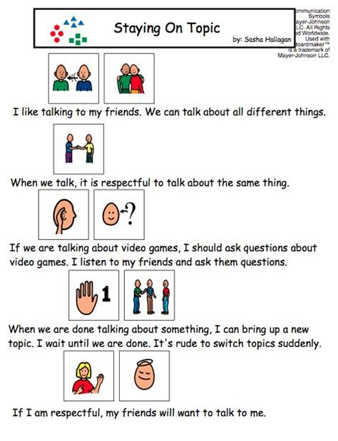 social story templates visual social story packet for children with autism