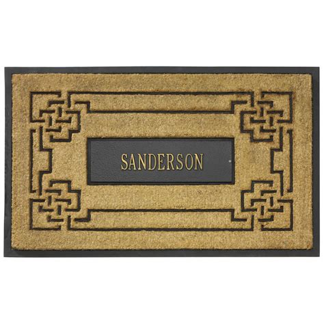 Personlized Door Mats by Coir Knot Personalized Doormat In Doormats