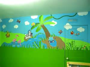 Daycare Wall Murals Daycare Jungle Mural Complete Wall 2 For The Daycare