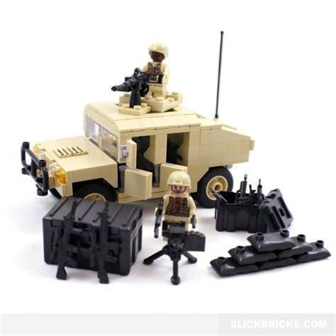 lego army humvee desert army humvee lego compatible from slick bricks cool