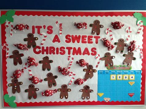 christmas board decoration quot it s a sweet quot bulletin board idea