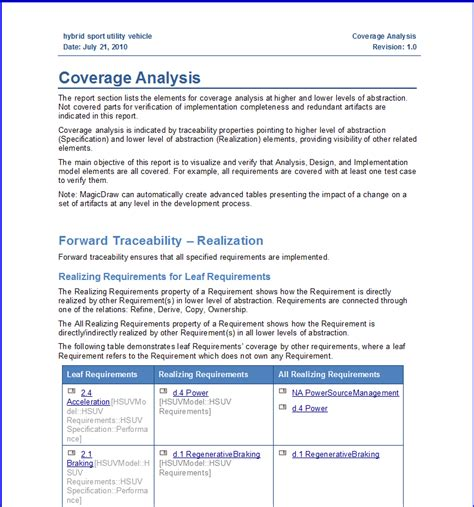 technical analysis report template creative coverage analysis report template with blue color