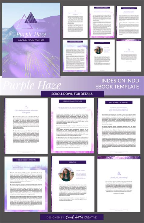 Template Purple Haze Indesign Ebook Template 187 Logotire Com Indesign Presentation Template Free