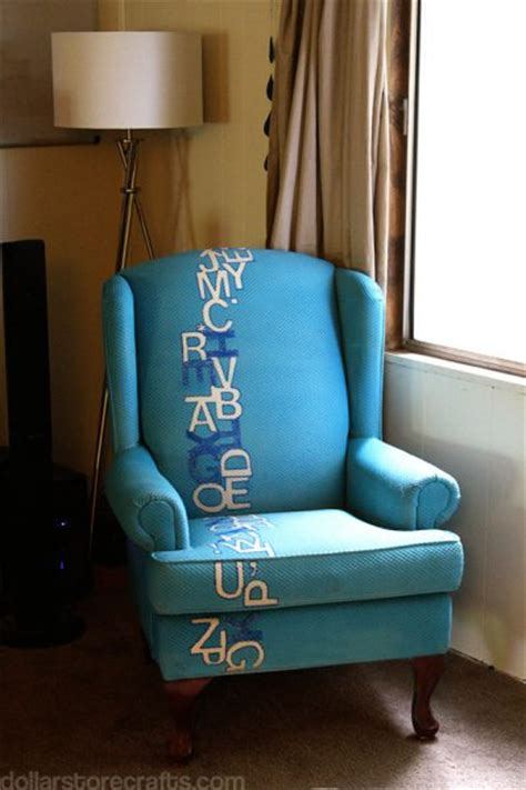 spray painting upholstery how i painted a chair blue with upholstery paint 187 dollar