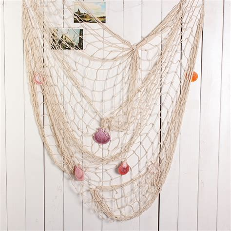 decorative fish net wall decoration mediterranean decorative fishing net sea shell party wall