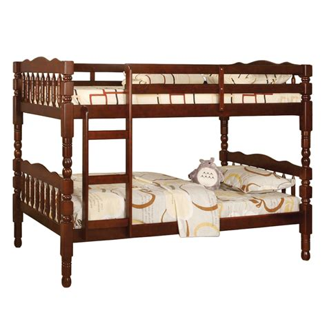 cherry twin bed catalina twin twin bunk bed cherry cm bk606ch