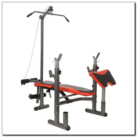 weight bench with lat bar ls5730 hms weight lifting bench with lat tower
