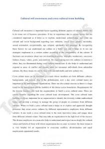 Essay Culture by Academic Essay Cultural Self Awareness And Cross Cultural Team Buil