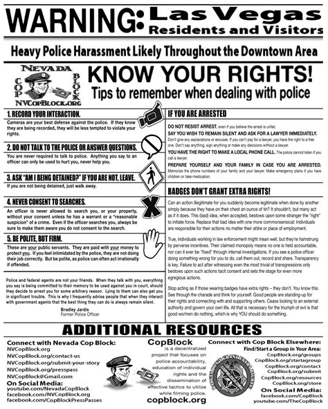 protect your rights how to deal with the police if you las vegas police agree that you should film them cop block