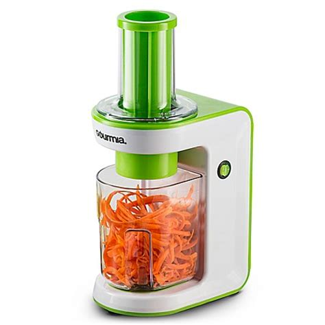 spiralizer bed bath and beyond gourmia 174 electric spiralizer and slicer bed bath beyond