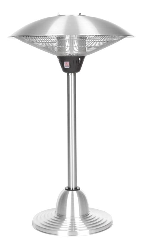 Stainless Steel Table Top Patio Heater Stainless Steel Table Top Halogen Patio Heater Well Traveled Living