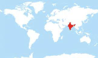 India In Map Of The World by India World Map