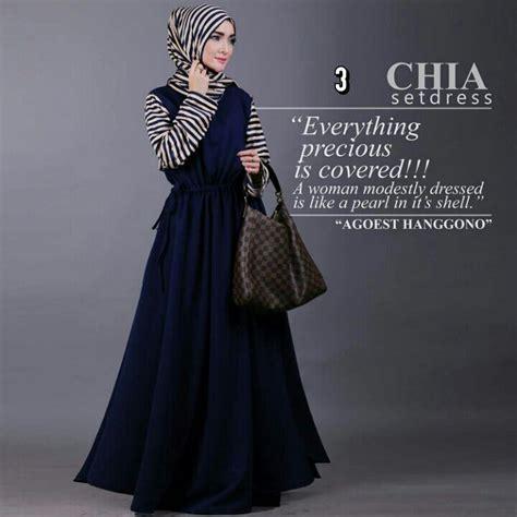 Dress Gamis Chia By Agoest Hanggono grosir busana muslim gamis modern chia set agoest hanggono