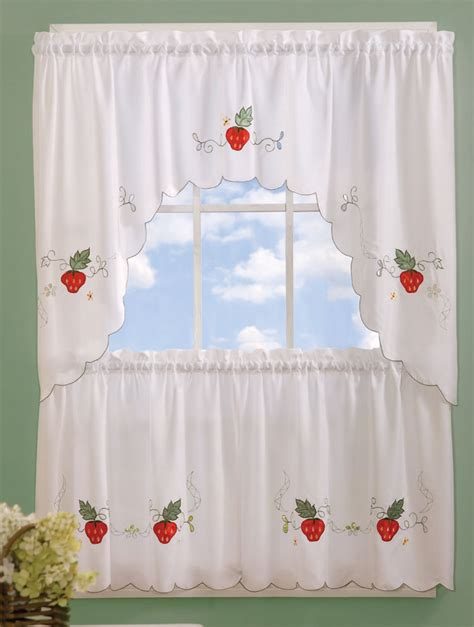 strawberry kitchen curtains discount kitchen tiers swags swags galore kitchen