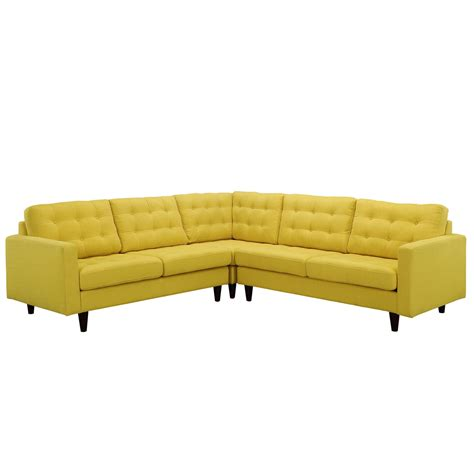 upholstered sectional sofa empress 3 piece button tufted upholstered sectional sofa