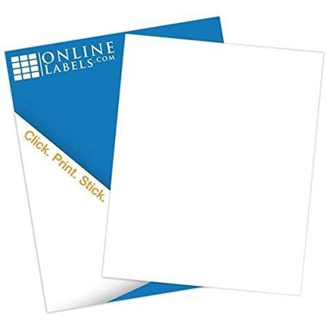 silhouette printable sticker paper 8 5 x 11 10 pkg kraft printable sticker paper 100 sheets full blank sheet