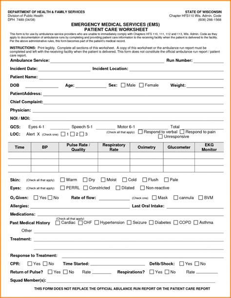 Paramedic Report Template Soap Unique Best Professional Templates Of Patient Care Ems Forms Paramedic Report Template