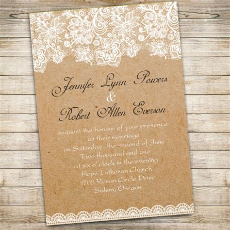 free printable wedding invitations lace vintage floral lace wedding invitations ewi270 as low as